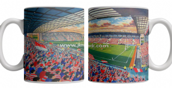 DW stadium on matchday mug